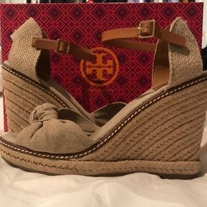 Tory Burch Espadrille Wedge 110MM sz8.5
